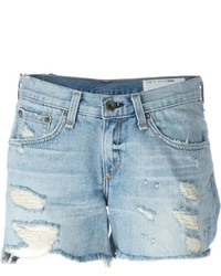 Rag & Bone Jean Distressed Denim Shorts