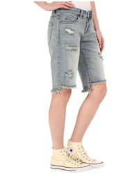 Blank NYC Ripped Bermuda Shorts In Hate Watching
