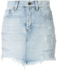 Saint Laurent Washed Denim Shorts