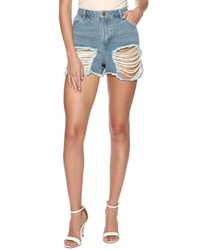 The Fifth Washed Denim Stardust Shorts