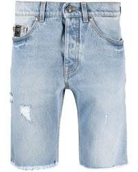 VERSACE JEANS COUTURE V Emblem Denim Shorts