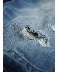 Mango Outlet Vintage Wash Denim Bermuda Shorts