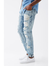 21men 21 Destroyed Light Wash Slim Fit Jeans | Where to buy & how ...