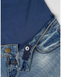 a65db3c3 Bandia Maternity Over The Bump Ripped Boyfriend Jean With Removable ...