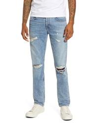 Hudson Jeans Blake Ripped Slim Straight Leg Jeans