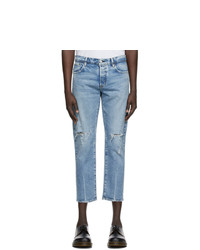 Moussy Vintage Blue Denim Mvm Lucile Tapered Jeans
