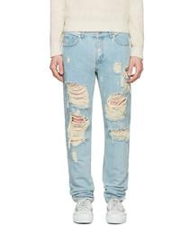 Blue destroyed jeans medium 1249860