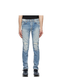 Acne Studios Blue Distressed Jeans