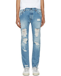 Blue ripped jeans medium 1028267
