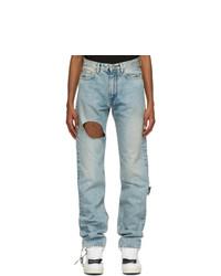 Off-White Blue Slim Meteor Joseph Jeans