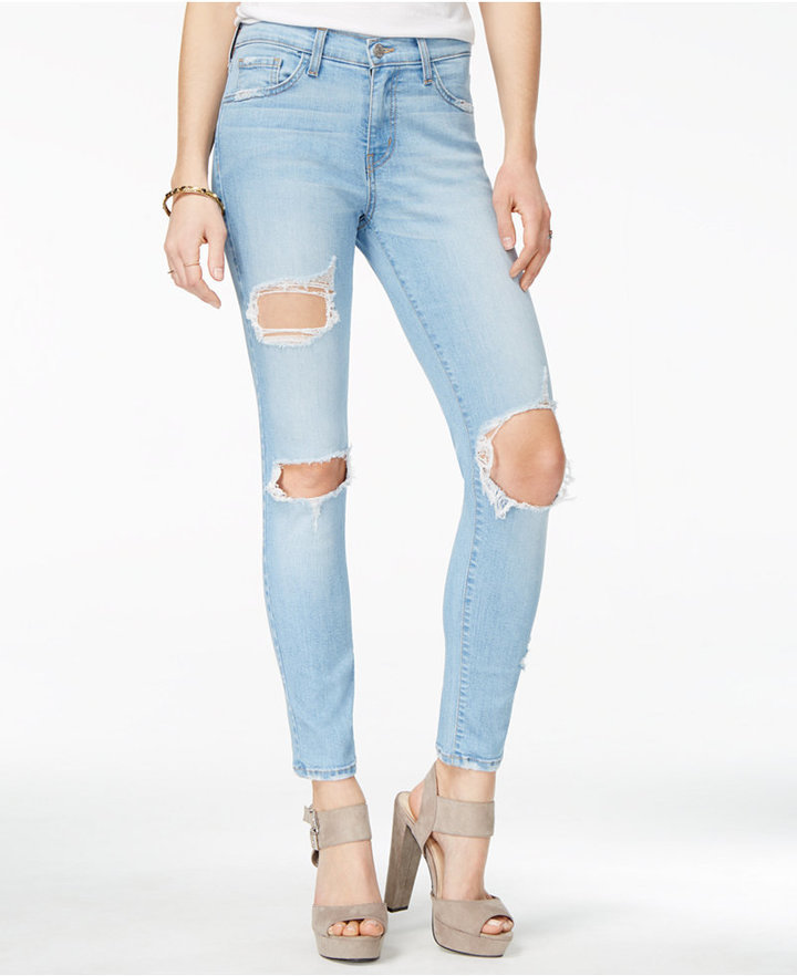 ff9f9d4d Flying Monkey Cotton Ripped Skinny Jeans, $46   Macy's   Lookastic.com