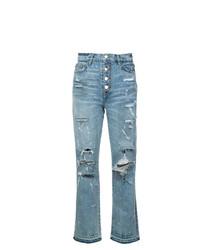 Amiri Crystal Studded Straight Jeans