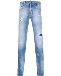 DSQUARED2 Distressed Effect Logo Patch Jeans