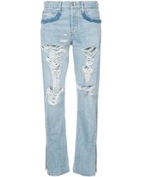JONATHAN SIMKHAI Distressed Embellished Jeans