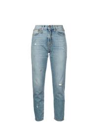 R13 Distressed Girlfriend Jeans