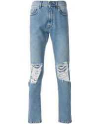 MSGM Distressed Regular Jeans