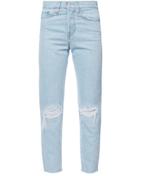 Levi's Distressed Straight Jeans