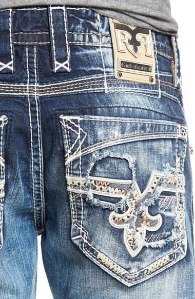 Rock Revival Distressed Straight Leg Jeans 174 Nordstrom Lookastic