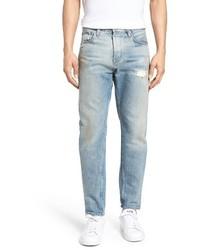 Distressed taper fit jeans medium 3730240