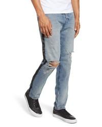 AG Dylan Satin Side Skinny Fit Jeans