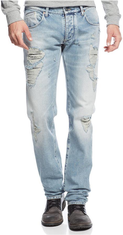 huge discount 34e3d 3a4a0 $305, Armani Jeans J23 Slim Fit Light Wash Jeans