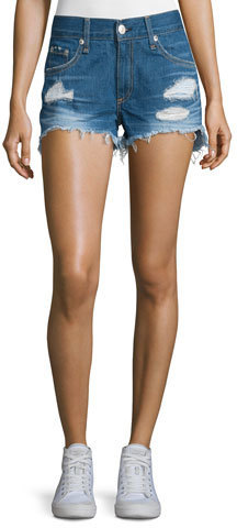 af6574614ee ... Rag   Bone Jean Distressed Cut Off Denim Shorts Freeport ...