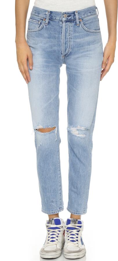 Liya Grande Hauteur Jeans Coupe Classique - Bleu Citoyens De L'humanité G5UpO3