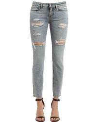Dolce & Gabbana Low Raise Destroyed Denim Jeans