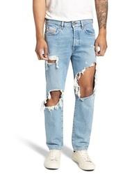 e34b39ce3a6 Men's Light Blue Ripped Jeans by Diesel   Men's Fashion   Lookastic.com
