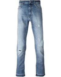Closed Mid Wash Distressed Jeans