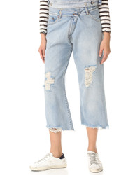 Mm6 destroyed cropped jeans medium 1251198