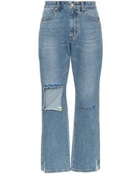 MAISON KITSUNÉ Raw Denim Distressed Jeans