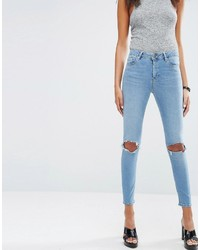 2c3f08be20c03 ... Asos Ridley Skinny Jeans In Hiro Wash With Rips