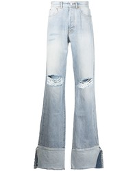 Vetements Ripped Knee Turn Up Jeans
