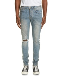 PURPLE Ripped Slim Fit Jeans