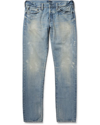 Simon Miller M001 Slim Fit Tapered Distressed Selvedge Denim Jeans