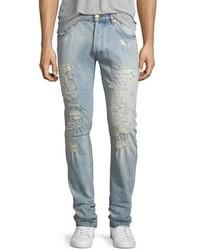 Pierre Balmain Super Distressed Slim Jeans