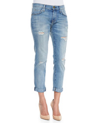 Current/Elliott The Fling Relaxed Destroyed Jeans Super Loved