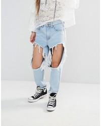 Boohoo Thigh Rip Jean
