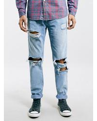 Men&39s Light Blue Ripped Jeans from Topman  Men&39s Fashion