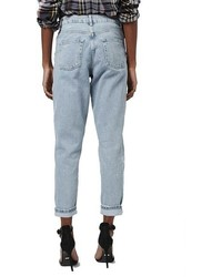 Topshop Ripped High Rise Mom Jeans