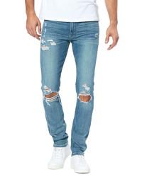 Paige Transcend Vintage Lennox Ripped Slim Fit Jeans