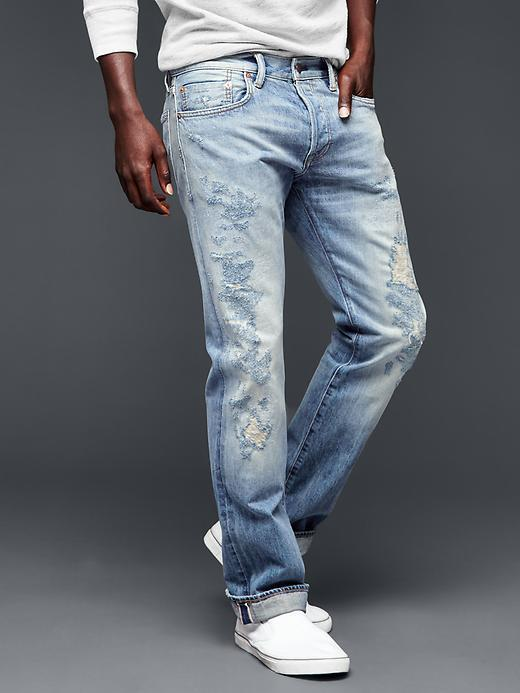 4d073056e21876 Gap 1969 Selvedge Slim Fit Jeans, $128   Gap   Lookastic.com