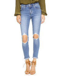 721 high rise distressed skinny jeans medium 529376