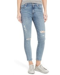 A Gold E Agolde Sophie Distressed High Waist Skinny Jeans
