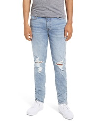 Topman Blowout Ripped Skinny Jeans