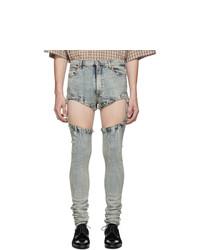 Gucci Blue Bleach Skinny Fit Jeans