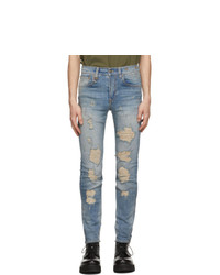 R13 Blue Distressed Skate Jeans