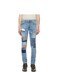 Amiri Blue Japanese Repair Jeans