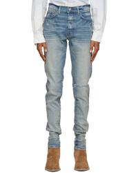 Amiri Blue Slit Knee Jeans